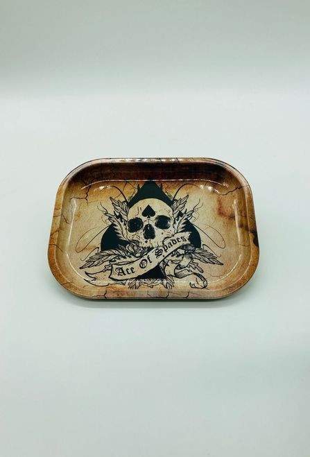 Ace of Spades Skull Rolling Tray