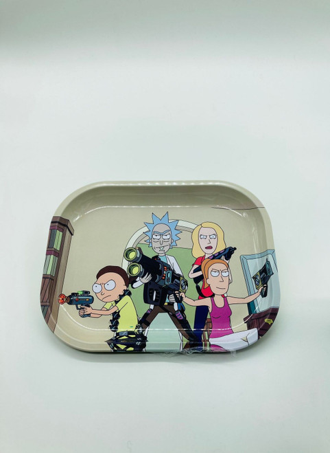 Rick and Morty Guns Family Rolling Tray  RT-019