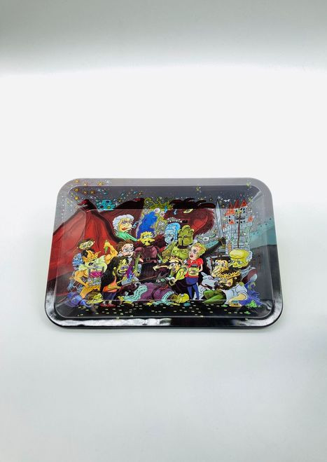 Stoned Cartoon Character Rolling Tray