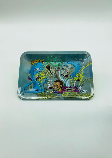 Rick and Morty Stoned Smoking Joints Rolling Tray
