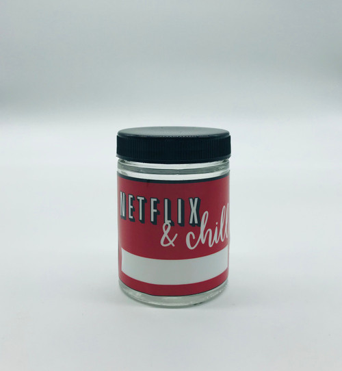 Kanna Signature Netflix and Chill 4oz Glass Jar  KS-NETFLIX-4