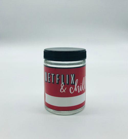 Kanna Signature Netflix et le pot de verre de 4oz