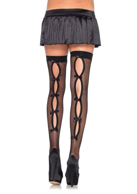 Leg Avenue Bow Backseam Thigh Highs