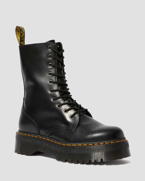 Dr. Martens Jadon HI Black Smooth Platform Boots  DR-25565001