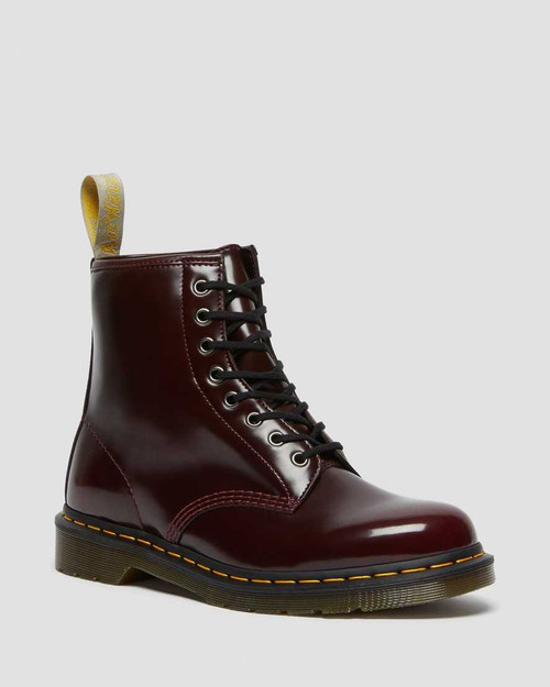 Dr Martens Vegan 1460 Cherry Red Oxford Rub Off  DR-23756600