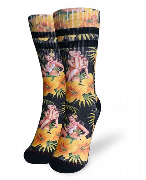 Liquor Brand Tiki Time Black Socks  LB-ASO-19020-NCL