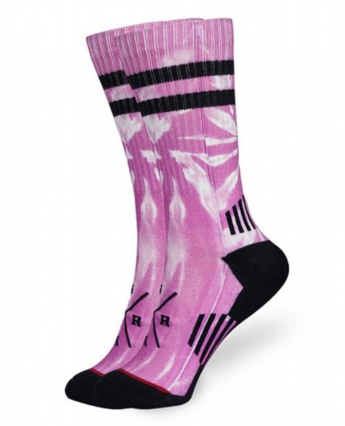 Loose Riders Tie Dye Fuchsia Socks  LR-ASOT-19005-NCL