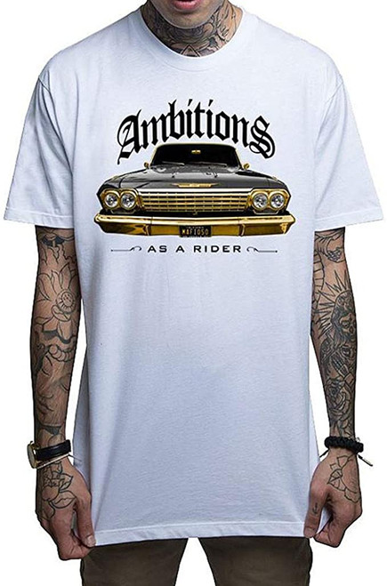 T-shirt blanc Ambitions mafieuses
