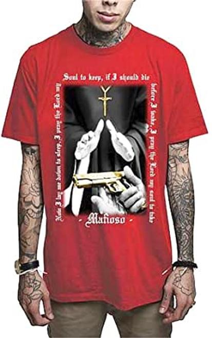 T-shirt rouge du Baptême des mafios