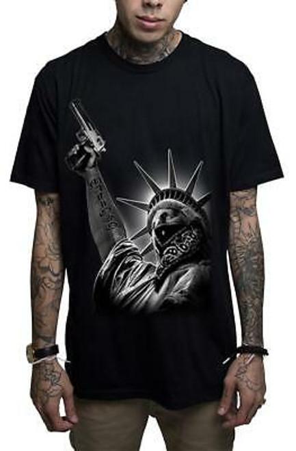 """T-shirt noir """"Mafioso Stick Up"""