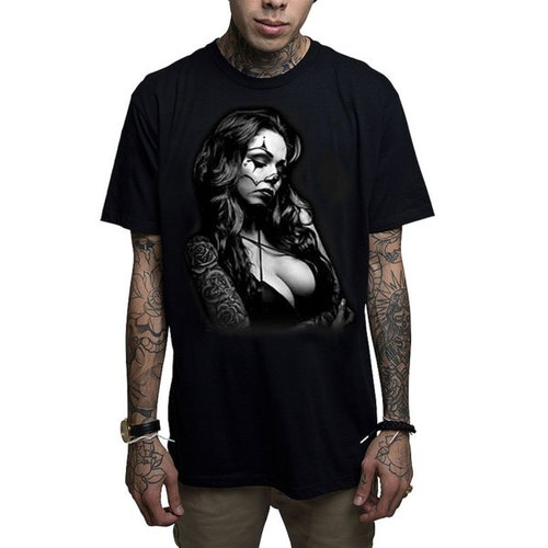 "T-shirt noir ""Mafioso Cry Later"