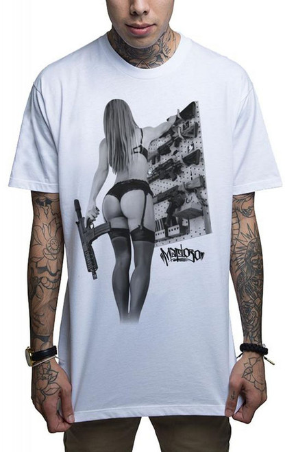 """T-shirt blanc """"Mafioso Ass-Assin"""