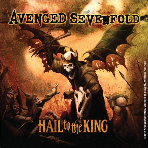 Avenged Sevenfold Single Cork Coaster Hail To The King  (AS-COAS-03)