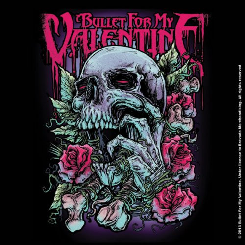 Bullet For My Valentine Single Cork Coaster Skull Red Eyes