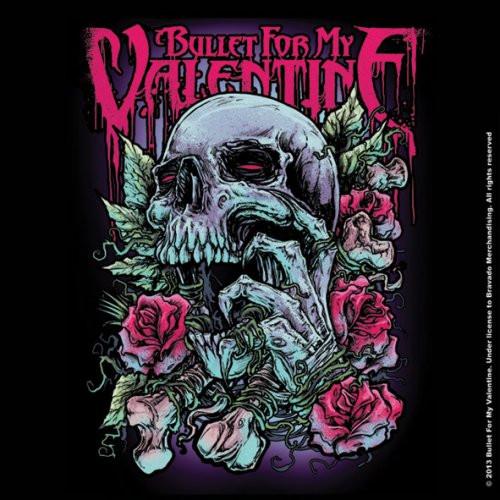 Bullet For My Valentine Single Cork Coaster Skull Red Eyes