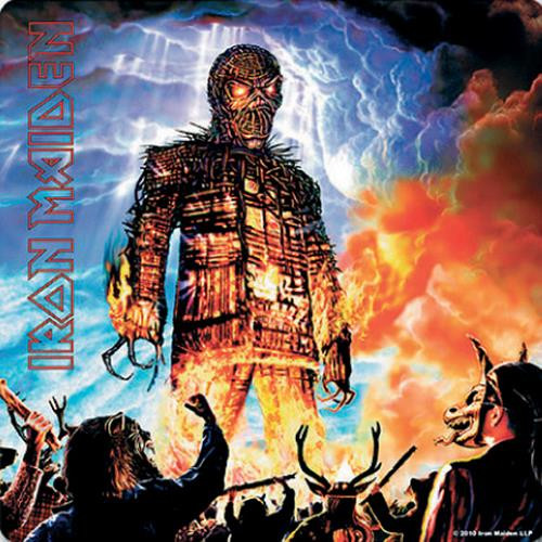 Iron Maiden Wicker Man Single Cork Coaster