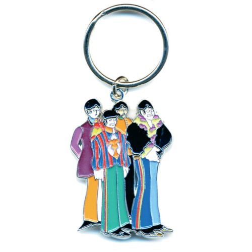 The Beatles Yellow Submarine Band Keychain (Enamel In-Fill)  B-KC-006