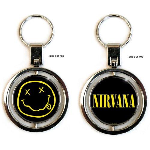 Nirvana Porte-clé avec logo Smiley (SPINNER)  NIRV-SPIN-KEY-01