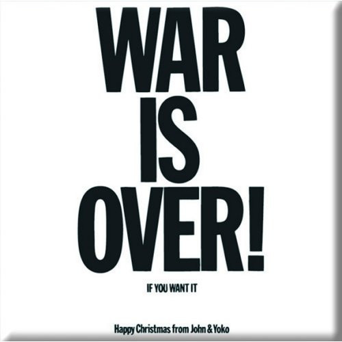 John Lennon Fridge Magnet: War is Over  JL-MAG-02