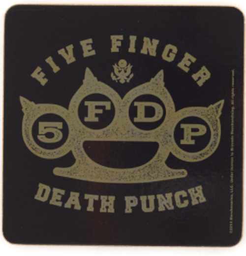 Five Finger Death Punch Single Cork Coaster
