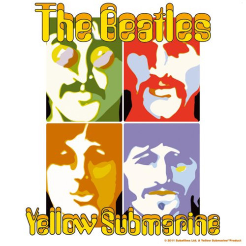 The Beatles Yellow Submarine Single Cork Coaster
