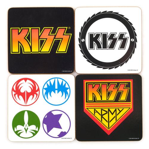 Ensemble de sous-verre mixte Kiss 4Pcs