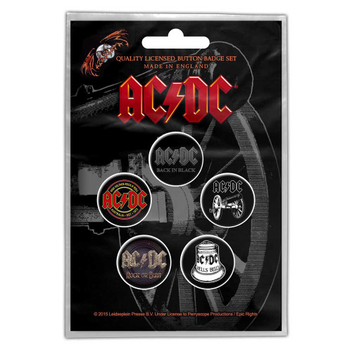 AC/DC For Those About Rock Button Badge Pack