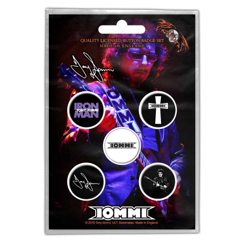 Tony Iommi Button Badge Pack