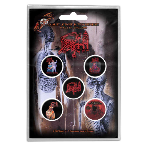 Death Albums Button Badge Pack