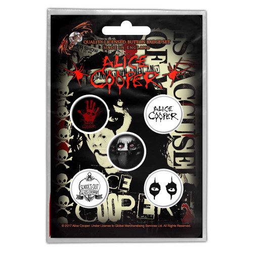 Alice Cooper Eyes Button Badge Pack