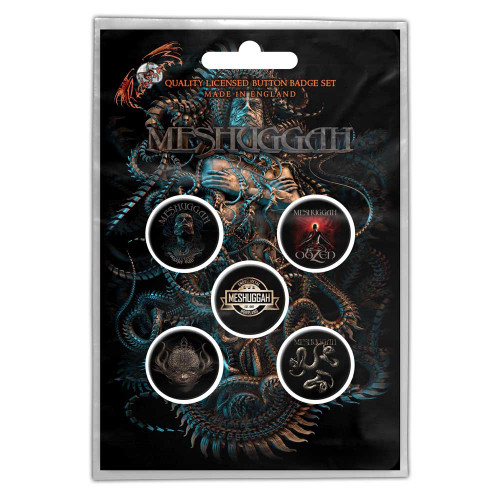 Meshuggah Violent Sleep Of Reason Button Badge Pack