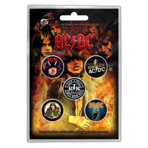 "AC/DC Pack de badges ""Highway To Hell"