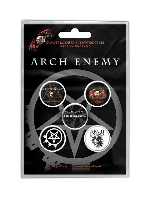 Arch Enemy Wheel To Power Button Badge Pack