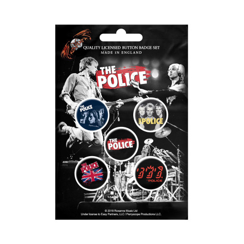 The Police Classic Album Button Badge Pack
