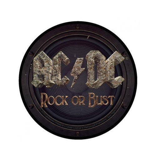 Patch rond ACDC Rock ou Bust  SP2823