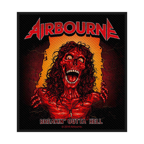 "Patch ""Airbourne Breakin' Outta Hell  SP2893"
