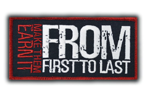 From First To Last Make The Earn It Patch  RPFRO001