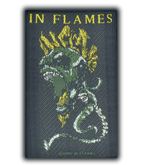 In Flames Screaming Demon Head Patch  SP2108