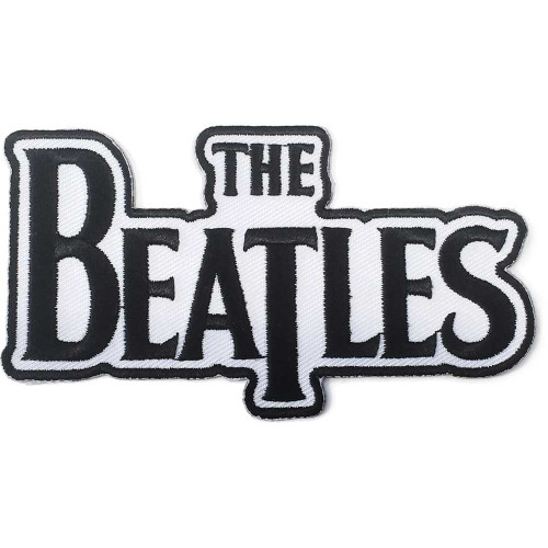 The Beatles Drop T Logo Black Patch  BEP030B
