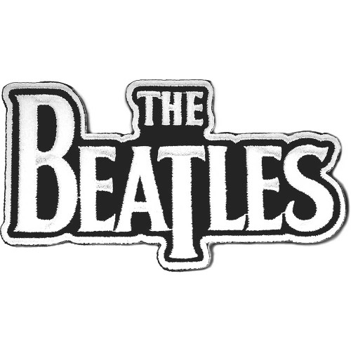 The Beatles Drop T Logo White Patch  BEP030W