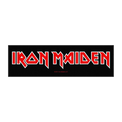 Logo Iron Maiden Super Strip Patch  SSR176