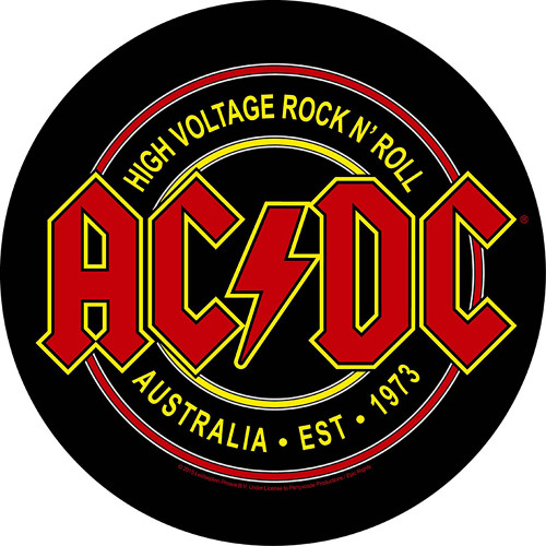 ACDC High Voltage Rock N Roll Back Patch  BP1017
