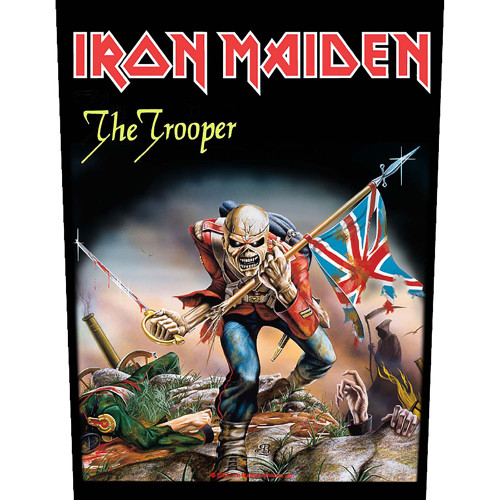 Iron Maiden The Trooper Back Patch  BP829