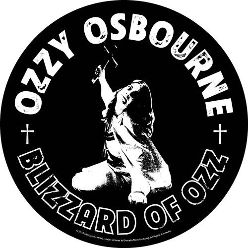 Ozzy Osbourne Blizzard of Ozz Back Patch  BP1042