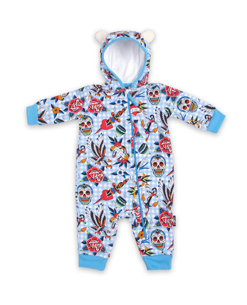 Six Bunnies Shoppe Blue Playsuit