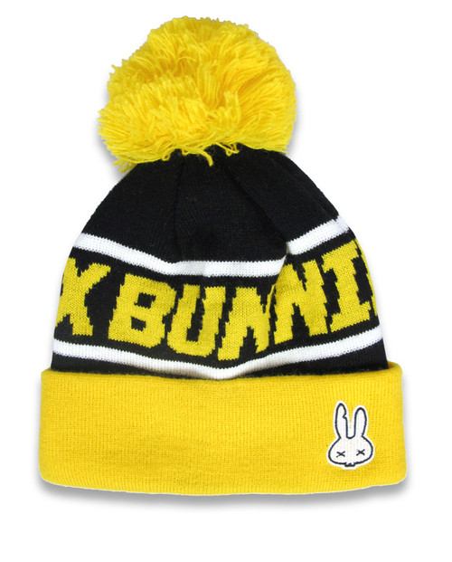 Six Bunnies Beanie Pom-Pom Yellow