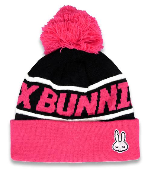 Six Bunnies Beanie Pom-Pom Pink