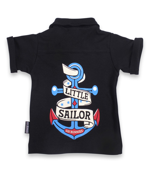 Six Bunnies Little Sailor Baby Button Shirt  SB-BSH-19003-NCL