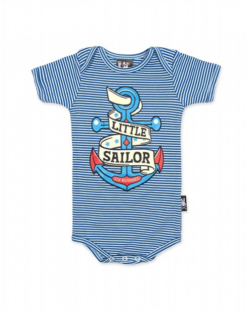 Six Bunnies Little Sailor Baby Romper  SB-ROP-00019-SBU
