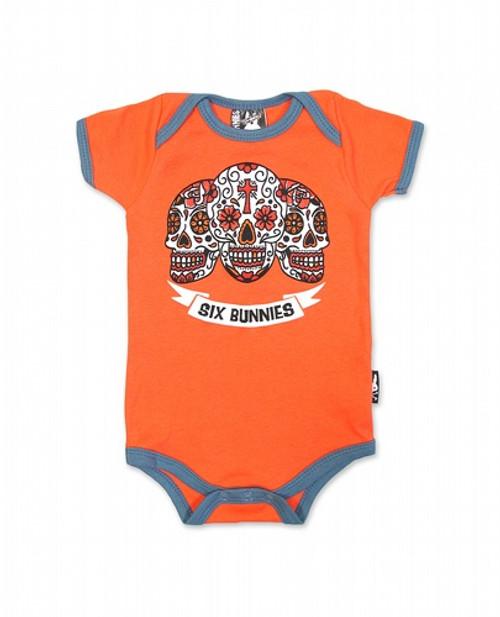 Six Bunnies Amigos Baby Romper  SB-ROP-00064-SCA/GRY